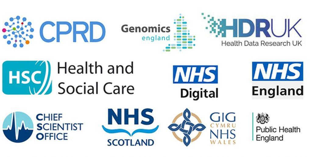 CPRD, Genomics England, HDR UK, HSC, NHS Digital, NHS England, Chief Scientist Office, NHS Scotland, NHS Wales, Public Health England