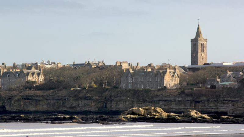 St Andrew's University from the west sands