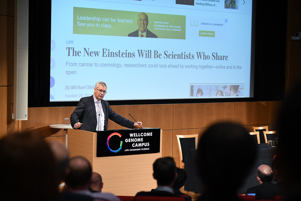 Andrew Morris presenting